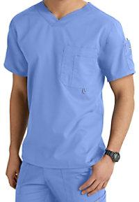 Greys Anatomy Mens 3 Pocket High V-neck Scrub Tops