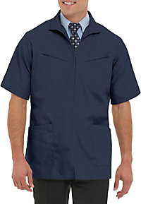 Landau Mens Professional Short Sleeve Zip Front Scrub Jackets