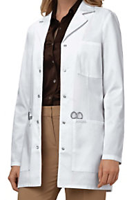 Cherokee snap front 32 inch lab coat with Certainty.