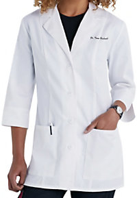 Cherokee 3/4 sleeve lab coat with Certainty.