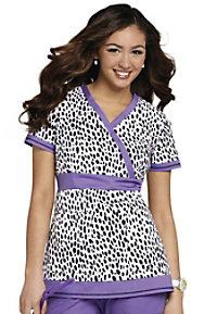 Koi Rylee Lovely Leopard print scrub top.