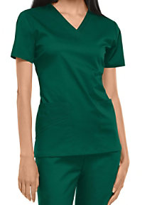 Cherokee Luxe womens v-neck scrub top.