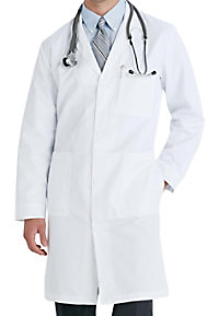 Meta men's 38 inch mid- length lab coat.