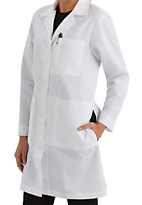 Meta women's 37 inch lab coat.