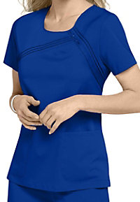 Cherokee Luxe Collection scoop neck stretch scrub top.