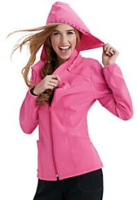 HeartSoul In Da Hood zip front hoodie scrub jacket.