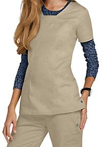 HeartSoul Serenity 3-pocket v-neck scrub top.