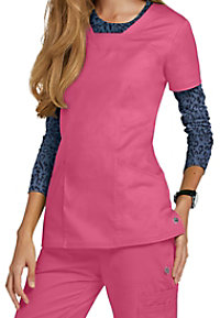 HeartSoul Serenity 3-pocket v-neck scrub top.