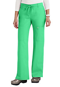 Cherokee Luxe modern fit low rise cargo scrub pant.