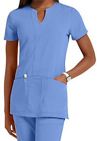 Greys Anatomy Signature 2-pocket y-neck scrub top.
