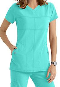 Greys Anatomy Signature 2 Pocket Soft V-neck Scrub Tops