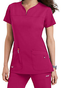 Greys Anatomy Signature 2 pocket scrub top.