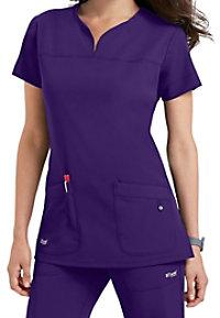 Greys Anatomy Signature Notch Neck 2 Pocket Scrub Tops