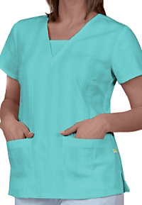 Healing Hands Layla v-neck inset scrub top.
