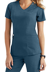 Healing Hands Purple Label Jordan Crossover 2 Pocket Scrub Tops