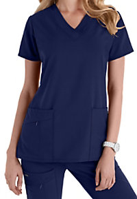 Jockey v-neck zipper pocket scrub top.