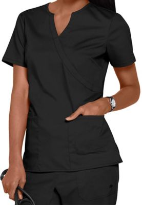 44ffa41041d $22.99 More Details · Healing Hands Purple Label stretch Jaclyn notched  v-neck crossover scrub top. - Black