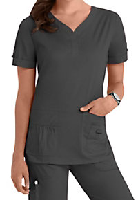 Koi Erica Y-Neck scrub top.