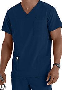 Jockey mens 7-pocket scrub top.
