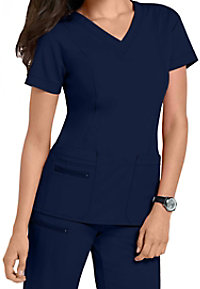 Jockey V-neck Zipper Pocket Scrub Tops