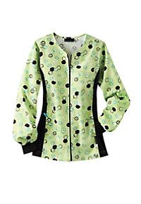 Cherokee Flexibles Dots A Doodle Print Scrub Jacket
