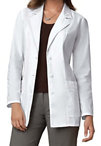 Cherokee embroidered lab coat with Certainty.