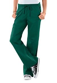 Cherokee Workwear Core Stretch Modern Fit Low-Rise drawstring pants.