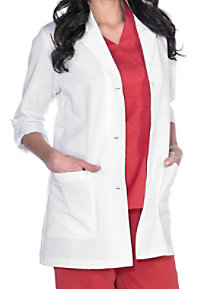 Greys Anatomy Signature Womens 31 Inch 3/4 Roll Tab Sleeve Lab Coats