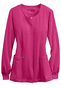 Greys Anatomy Signature round neck warm up scrub jacket.