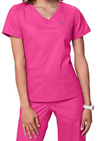 Koi Nicole Knit Trim Crossover Scrub Tops