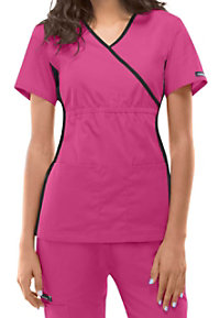 Cherokee Flexibles -mock-wrap scrub top.