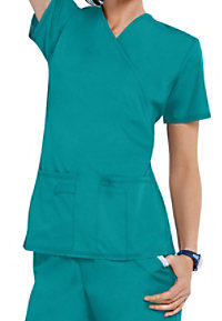Cherokee Flexibles 2 Pocket mock-wrap scrub top.