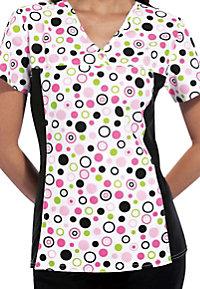 Cherokee Flexibles Polka Dots print scrub top.