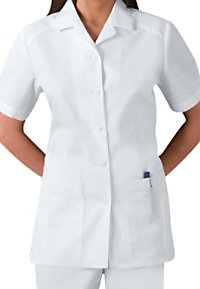 Cherokee button front student scrub top.