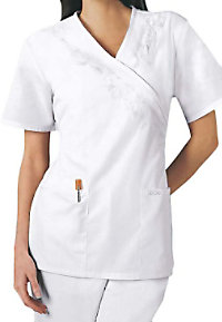Cherokee embroidered scrub top.