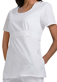 Cherokee Daisy Lane applique scrub top.