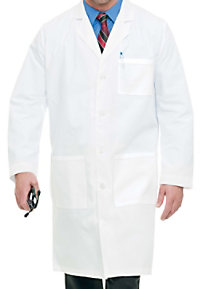Landau mens full length lab coat.