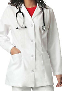 Landau women's princess seam lab coat.