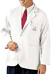 Landau mens two button lab coat.