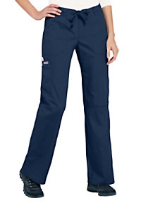 Cherokee Workwear drawstring waist cargo scrub pant.