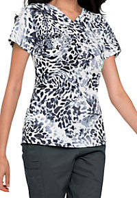 Landau Majestic Smart Stretch print scrub top.