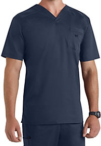 Landau Smart Stretch Mens V-neck Stretch Scrub Tops