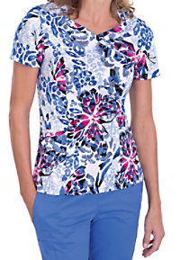 Landau Wingspan v-neck scrub top.