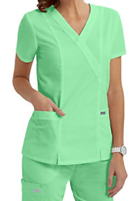 Greys Anatomy 2 pocket crossover scrub top.