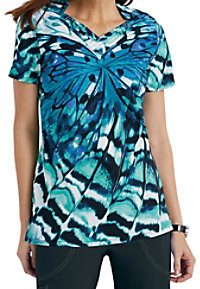 Landau Airy Reflections V-neck Scrub Tops