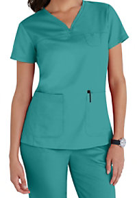 Greys Anatomy 3-pocket empire v-neck scrub top.