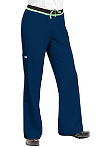 Greys Anatomy junior fit 5-pocket mid rise cargo scrub pant.