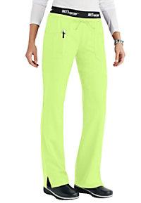 Greys Anatomy 3 pocket low rise logo waist scrub pant.