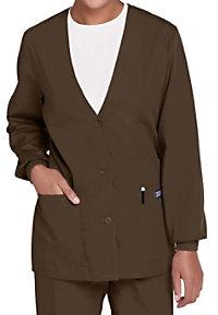 Cherokee Workwear v-neck cardigan scrub jacket.