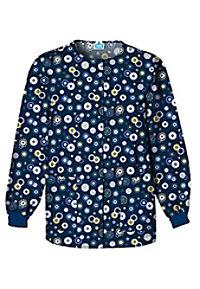 Cherokee Scrub HQ Dots Wonderful print scrub jacket.